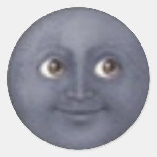 autocollants d'emoji de lune