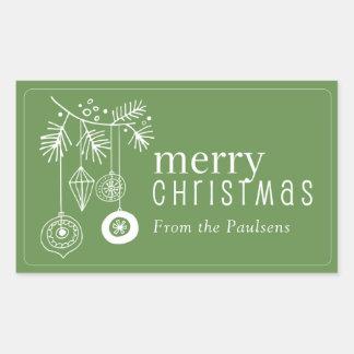 Autocollants d'étiquette de cadeau de Noël -