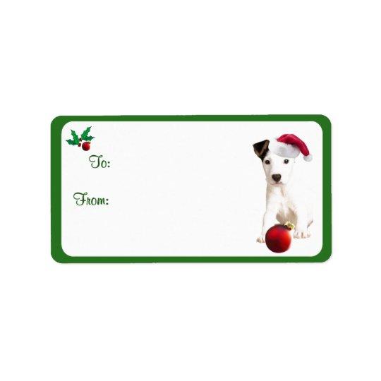 Autocollants d'étiquette de cadeau de Noël de Jack