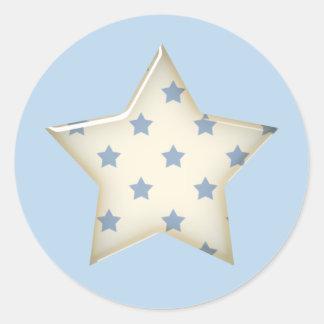 Autocollants d'étoile de bleu et de blanc