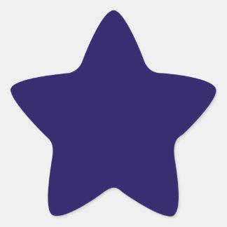 Autocollants d'étoile de bleu marine