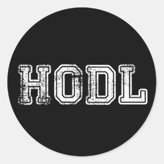 Autocollants d'impression de Hodl Cryptocurrency
