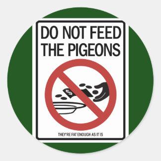Autocollants d'offres de pigeon/prédicateur