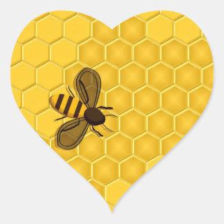 Autocollants d'or de nid d'abeilles et d'abeille