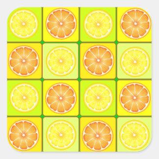 Autocollants d'oranges et de citrons