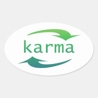 Autocollants d'ovale de flèche de karma