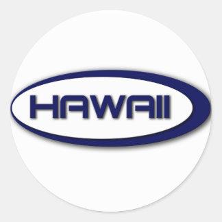 Autocollants d'ovale d'Hawaï