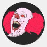 autocollants effrayants de clown
