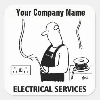 Autocollants électriques de bande dessinée de