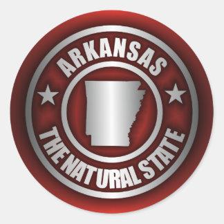 Autocollants en acier du Arkansas rouges