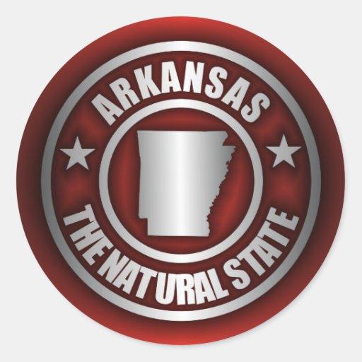 """Autocollants en acier du """"Arkansas"""" (rouges)"""