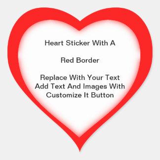 Autocollants en forme de coeur avec une frontière