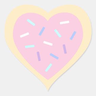 Autocollants en forme de coeur de biscuit de sucre