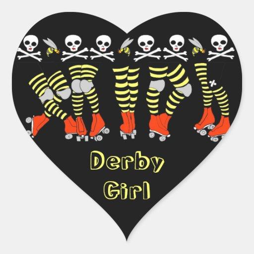 Autocollants en forme de coeur de Derby de rouleau