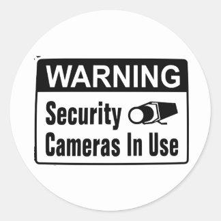 Autocollants en service de caméra de sécurité