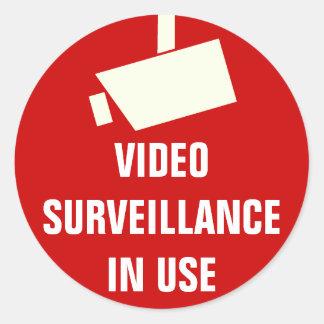 Autocollants en service de surveillance de caméra