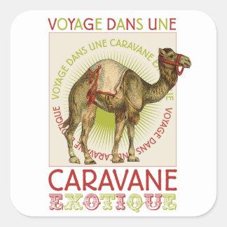 Autocollants exotiques de chameau de caravane
