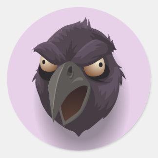 Autocollants fâchés de Raven