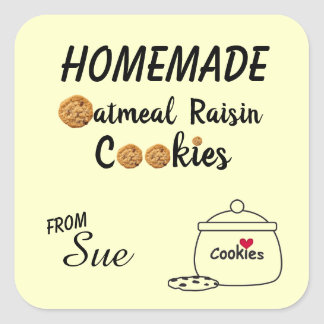 Autocollants faits maison de biscuit de raisin sec