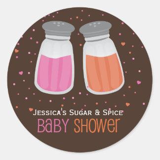 Autocollants faits sur commande de baby shower de