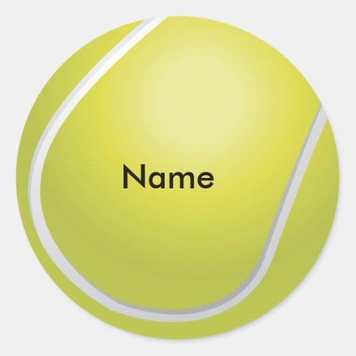 Autocollants faits sur commande de balle de tennis