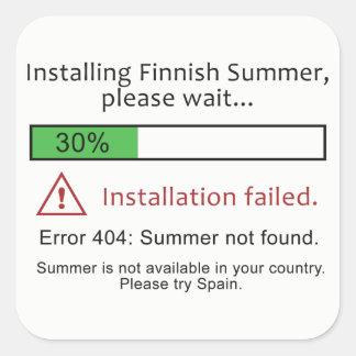 Autocollants finlandais drôles d'été