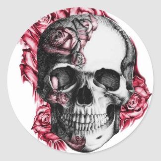 Autocollants floraux de crâne