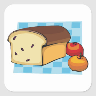 Autocollants fraîchement cuits au four de pain
