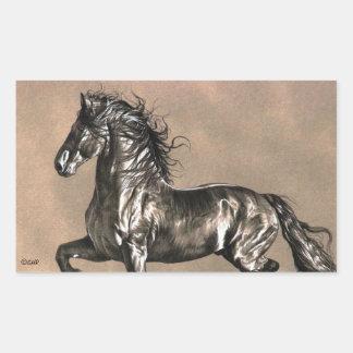 Autocollants frisons de cheval