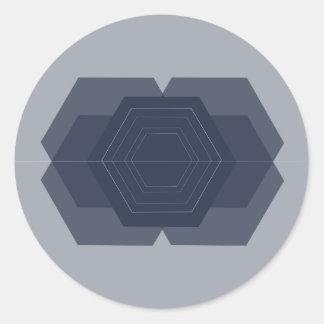 Autocollants géométriques d'hexagone
