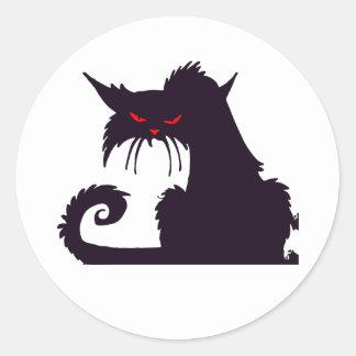 Autocollants grincheux de chat noir