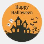 Autocollants hantés par Halloween faits sur