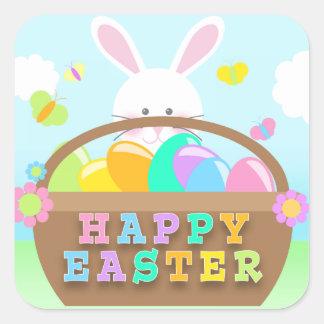 Autocollants heureux de lapin de Pâques