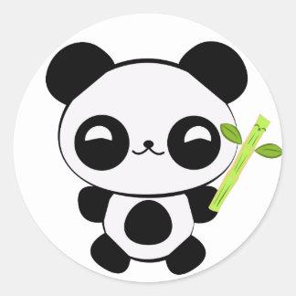 Autocollants heureux de panda de bébé