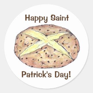 Autocollants irlandais de pain de soude du jour de
