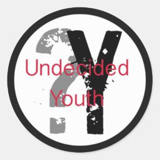 Autocollants irrésolus de la jeunesse (3 pouces)