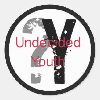 Autocollants irrésolus de la jeunesse (pouce