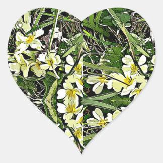Autocollants jaunes de fleur de ressort de