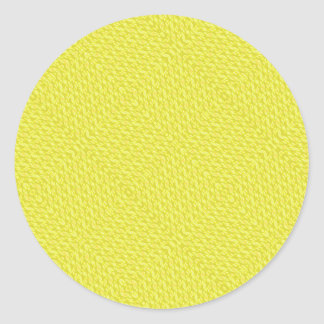 Autocollants jaunes de motif de regard de textile
