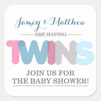 Autocollants jumeaux de joint d'enveloppe de baby