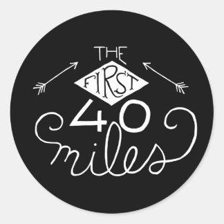 Autocollants les 40 premiers milles (noir)