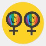 Autocollants lesbiens de symbole