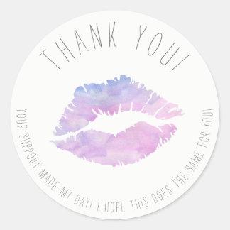 Autocollants lilas de Merci d'aquarelle