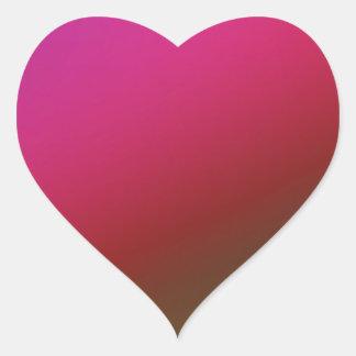 Autocollants magenta de coeur de gradient