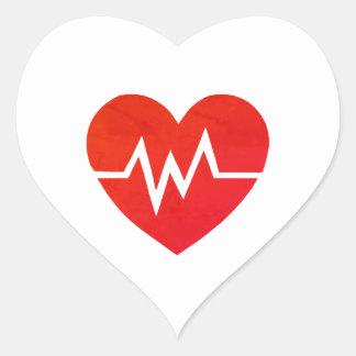 Autocollants médicaux rouges de coeur d'ECG