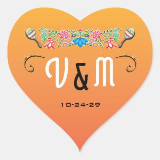 Autocollants mexicains de mariage de fiesta