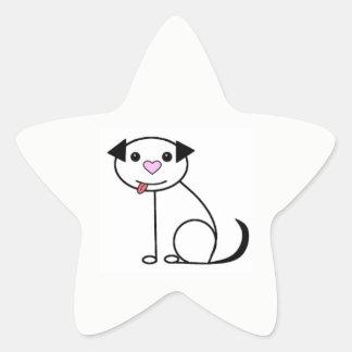 Autocollants mignons de chien de bande dessinée