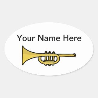 Autocollants mignons de griffonnage de trompette