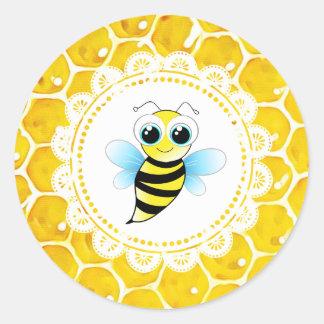 Autocollants mignons de nid d'abeilles d'abeille