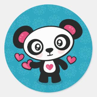 Autocollants mignons de panda